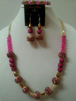 Monique LaShae Custom Pink&Gold Necklace