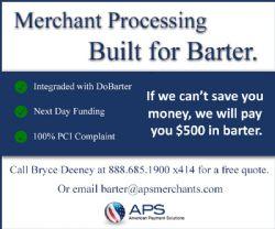 Merchant Processing Built for Barter