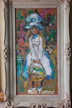Fine Art - Impressionism, Portrait, Floral, Girl