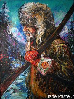 Art - Portrait, Hunter, Rustic, Scenic