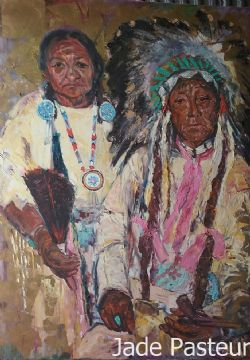 Fine Art - Portrait, Native American, Pain, Dignity, Wisdom