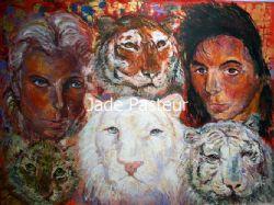 Fine Art - Impressionism, Portrait, Tiger, Siegfried & Roy