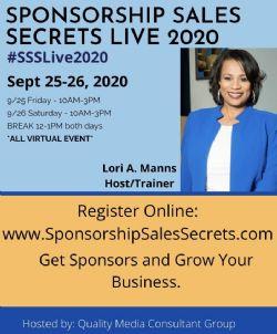 Sponsorship Sales Secrets Live 2020- SPONSOR