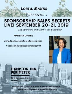 Sponsorship Sales Secrets Live 2019 Conference