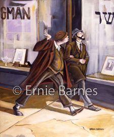 """Sam & Sidney"""" limited edition giclee by Ernie Barnes"""