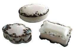 Milk Glass Vanity Set