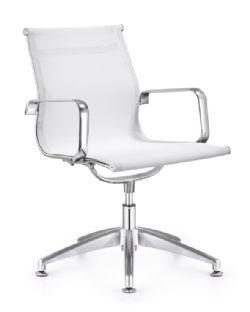 Woodstock Baez Mid Back Side Chair White Mesh