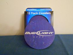 Coasters: Budweiser Beer Pack of 12