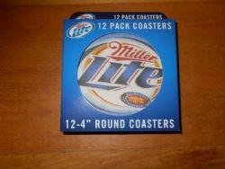 Coasters: Miller Lite Pack of 12