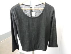 Blouse Dressy Lace Knit Blouse in Black. Sz 3XL