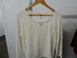 Blouse Dressy Lace Knit Blouse in White. Sz 3XL