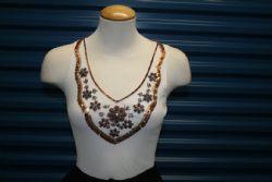 Blouse Knit Lucy Paris w/Beads & Sequins Design. Sz M/L