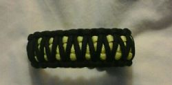 Parcord Bracelet-King Cobra style, Yellow and Black