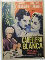 Caballera Blanca Original Mexican Movie Poster 1940-50s