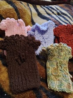 Ladies or girls boot cuffs      5 pair